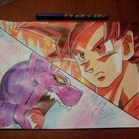 Goku Ssj God Vs Bills!!! Dragon Ball Super!!!
