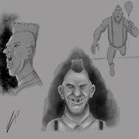 Sketching blanco y negro