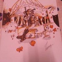 Viaje interminable (dibujo antiguo)