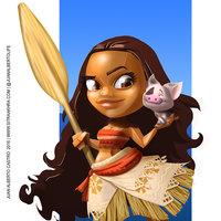 FanArt de Moana de Disney