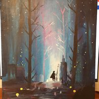 Fantasy Art Background Acrylic