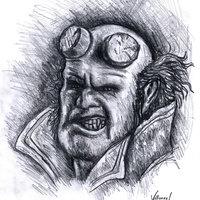 Fanart de Hellboy.