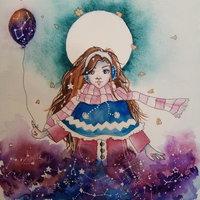 Galaxy girl | Acuarela