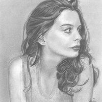 Retrato Anne Hathaway