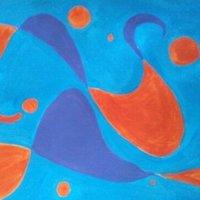 Blue acuarel