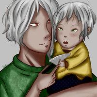 Hikaru y su padre Ethan