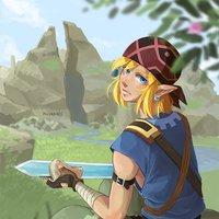 Link en Breath of the Wild (fanArt)