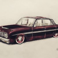 Ford Falcon hecho a lapices
