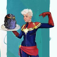 Thanos vs Captain Marvel