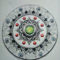 Mandala con relieve
