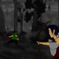 asesino del bosque vs arquero real