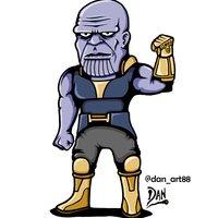 Caricatura de Thanos