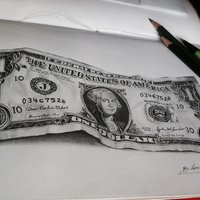 un Dólar estadounidense | Hiperrealismo