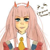 Boceto Zero Two <3