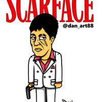 Caricatura Scarface