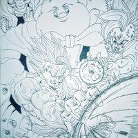 Collage Saga de Majin Buu Fan Art