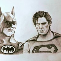 Batman vs Superman Old School