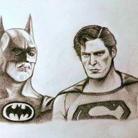 Batman vs Superman Old School