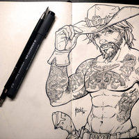 McCree tattoo sketch