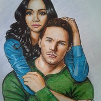 Chris Pratt and Zoe Saldaña