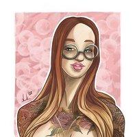 Tattoo girl inspired by Yanna sinner