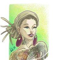 Tattoo girl inspired by alba marba