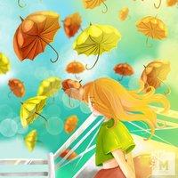 Umbrella flower sky