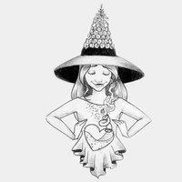 INKTOBER DAY 25 Foxglove witch