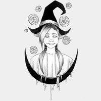 INKTOBER DAY 26 Gardenia witch