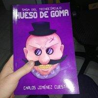 Libro: HUESO DE GOMA   Mi ilustración para su portada