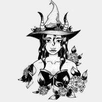 INKTOBER DAY 29 Hydrangea witch