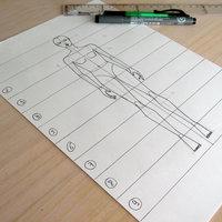 Cómo dibujar figurines de moda paso a paso. Con fotos y figurín descargable gratis.