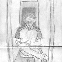 sketch en el pasillo