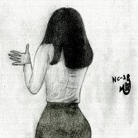 chica guapa vista posterior.