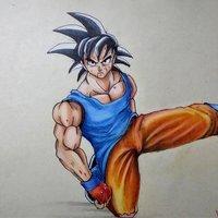 Goku a mi estilo prismacolor