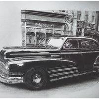 B&W Vintage Car (Buick)