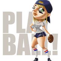 Baseball Pinup Shortstop