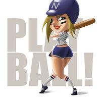 Baseball Pinup hitter