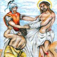 Cristo es despojado de sus vestiduras
