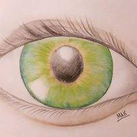 ojos verde azules.