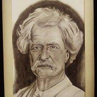 Retrato Mark Twain