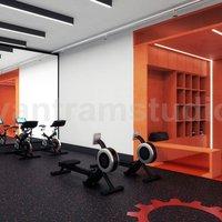 Gimnasio comercial GYM 3D Ideas de diseñadores de interiores por Architectural Studio