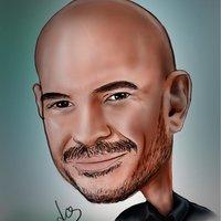 caricatura de RICARDO MORÁN - Empezando en el arte digital