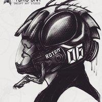 housefly helmet concept