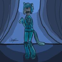 chica disfraz de gato
