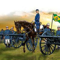 Guerra de la Triple Alianza. General mallet Apuntando a Piribebuy