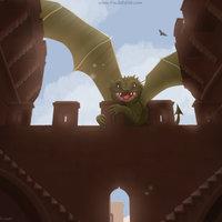 Dragon en las torres de Quart (+proceso)