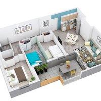 Diseño de planos de viviendas en 3D de diseño de apartamentos residenciales por empre
