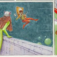 Viñeta de antigua de mi historieta aparecida en la revista TOTEM