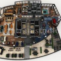 Servicio de representación de planos de planta en 3D del diseño de la azotea del apar